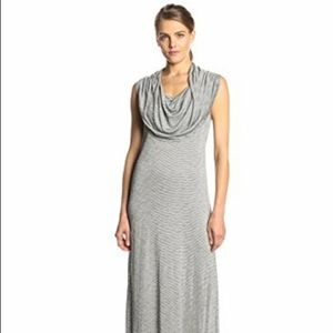 Kensie Dresses - Kensie | Stripes Sleeveless maxi dress cowl neck